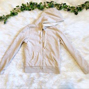 J. Crew Vintage Fleece Sherpa Lined Cream Hoodie